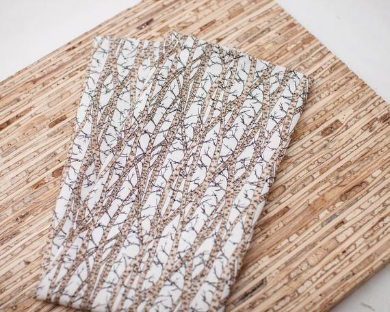 Large Cloth Napkins - Set of 4 - (N7190) - Aspen Forest Reusable Fabric Napkins #clothnapkins