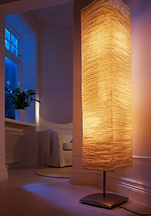 New Ikea Floor Lamp Rice Paper Shade Soft Art Mood Light 61 Quot Orgel Vreten Modern Ebay Lamp