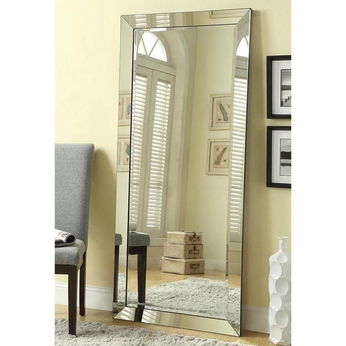 70 X 30 Floor Mirror In Silver