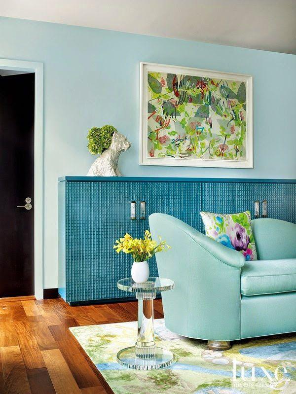 9 fotos de decoración de salas en color aguamarina Color