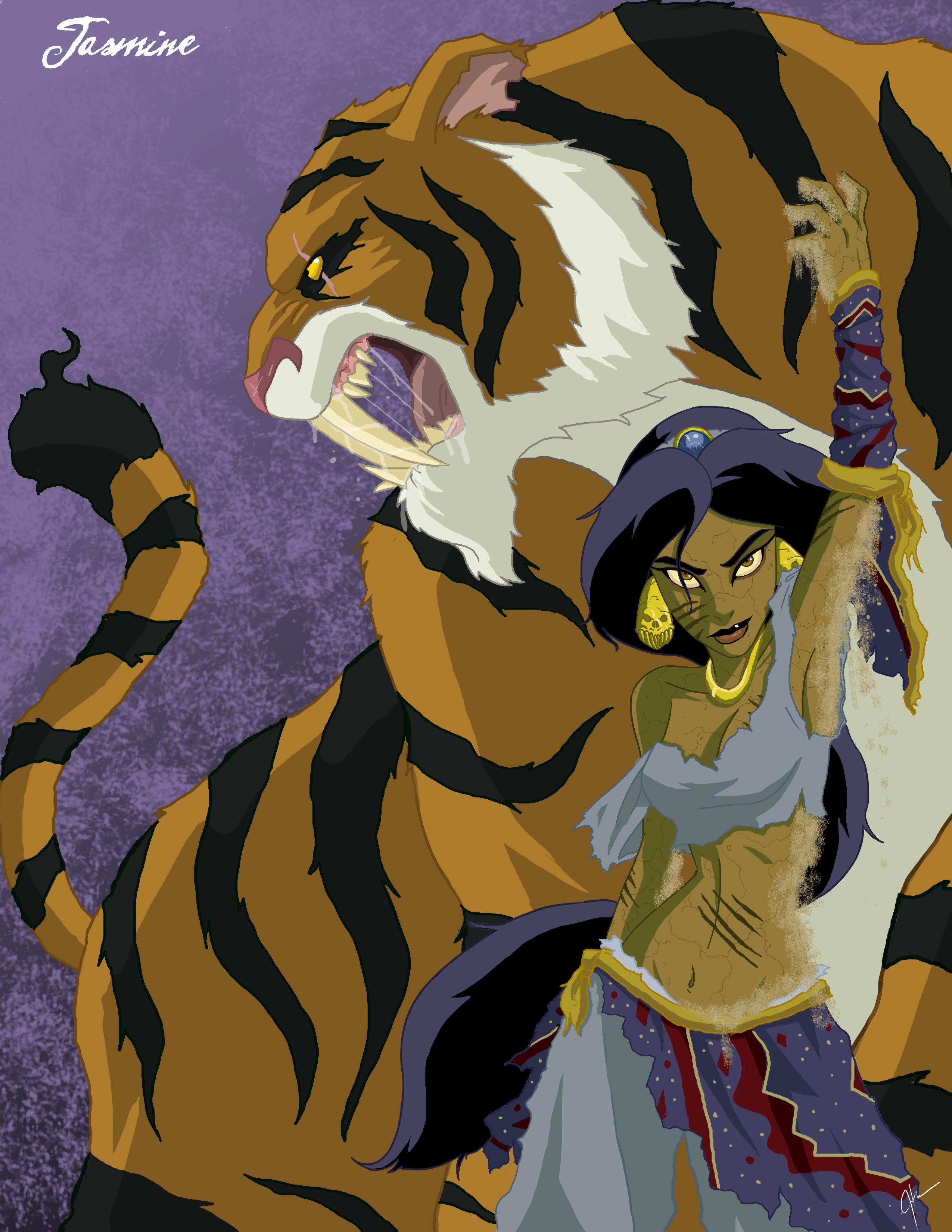 Twisted Princess Jasmine by Jeftoon01