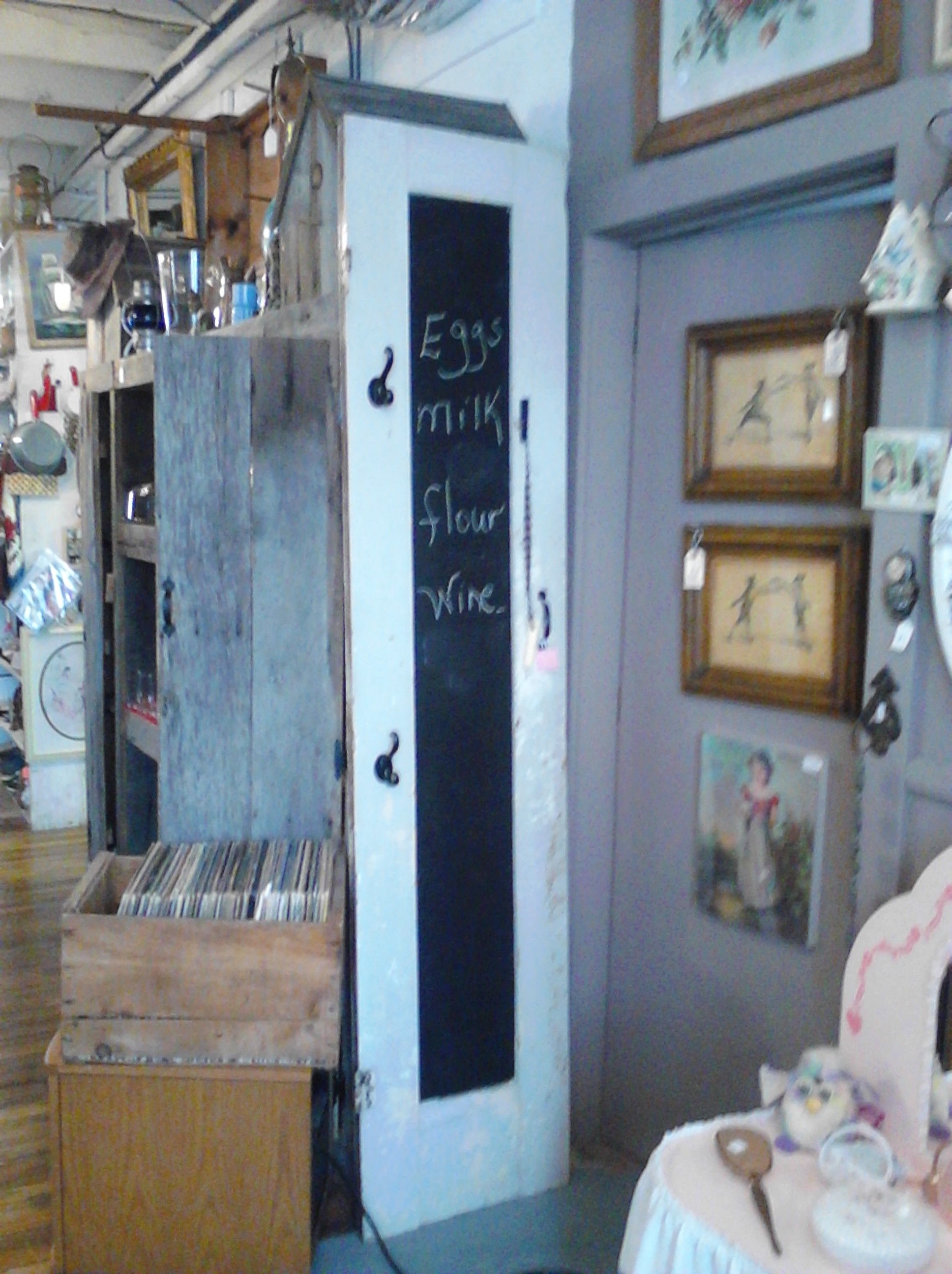 love this idea- paint an old door with chalkboard paint, add some ...