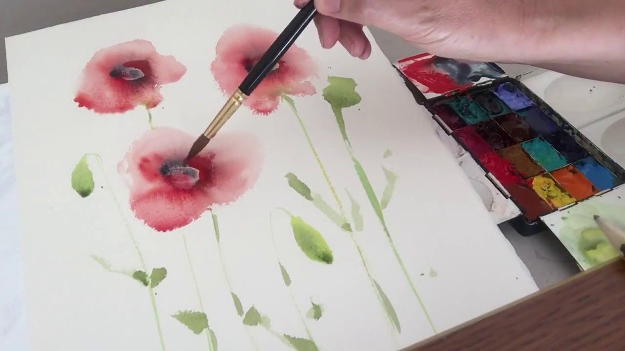 How To Paint Easy Watercolour Flowers For Beginners Wet In Wet