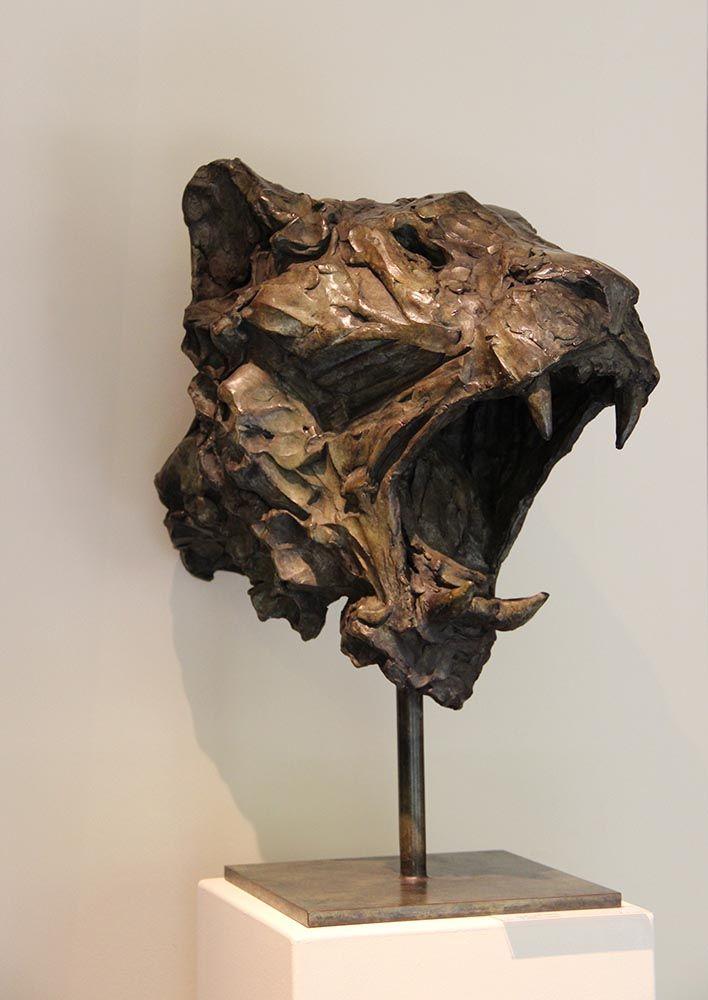 Tête de lionne Bronze n° 4/8 50 x 30 x 40 cm