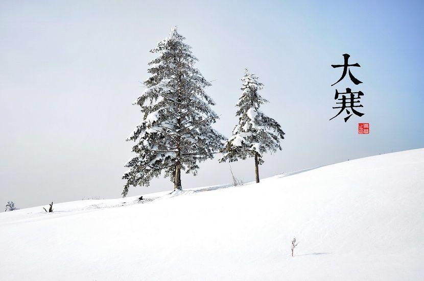 大寒《三禮義宗》:「大寒為中者,上形於小寒,故謂之大……寒氣之逆極,故謂大寒。」