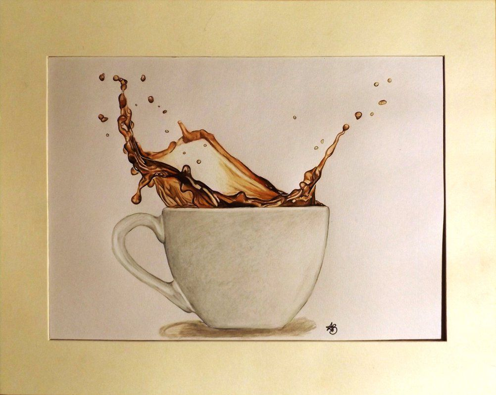Storm In A Cup Realistic Drawing 27x35cm By Annvasart Drawing