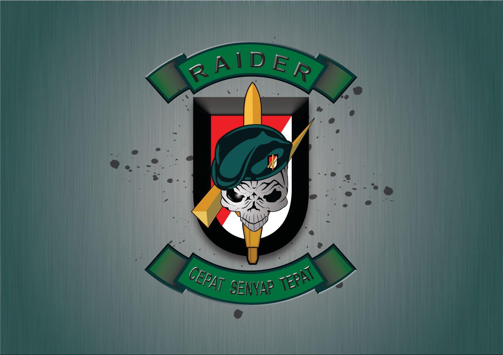 Raiders Logo Angkatan Darat Penembak Jitu Militer