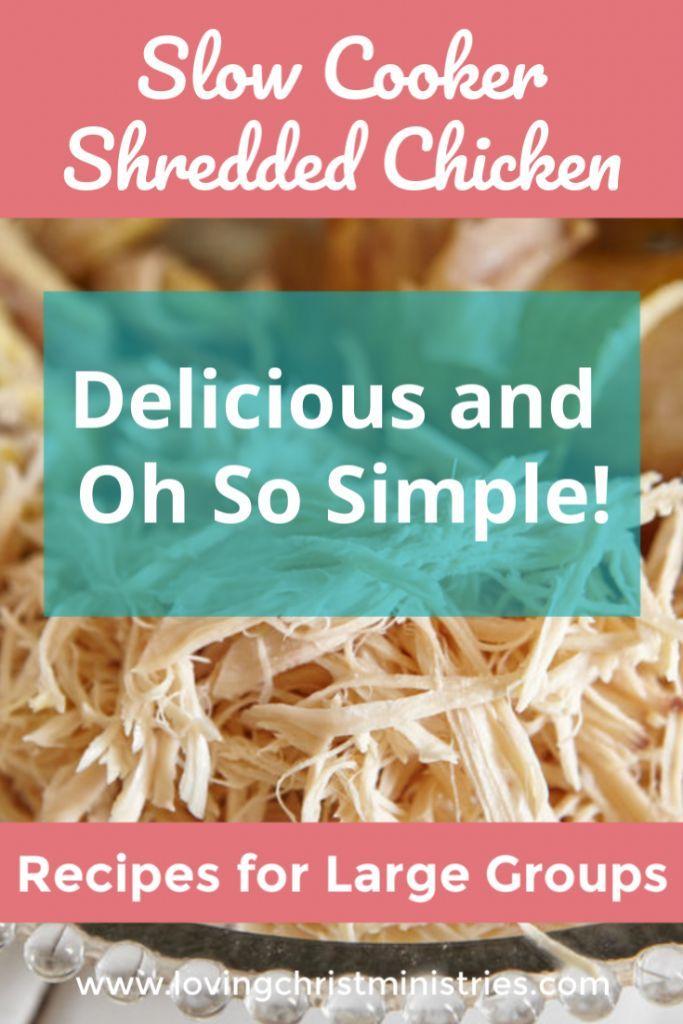 Simplest Shredded Chicken Recipe Ever #shreddedchickentacos