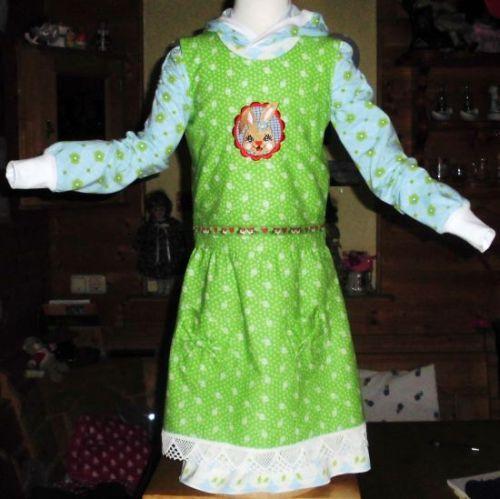 2tlg. Kleid Gr. 134/140 Schnittmuster Rosa&Fine von RosaRosa