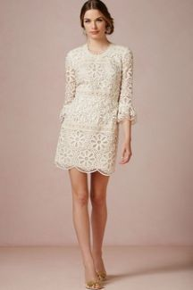 60s short wedding dress photo - 2 | idea | Pinterest | Wedding ...