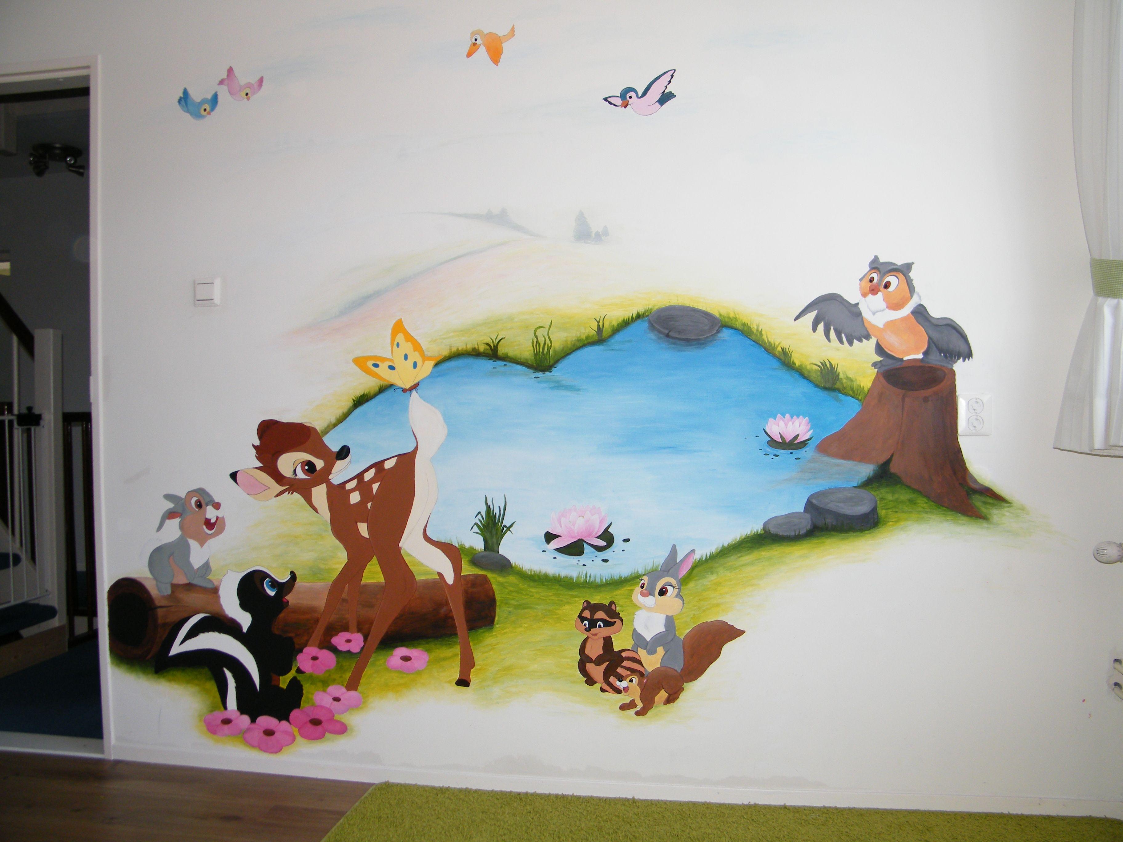 in her old room disney bambi mural so cute girls room disney bambi mural so cute