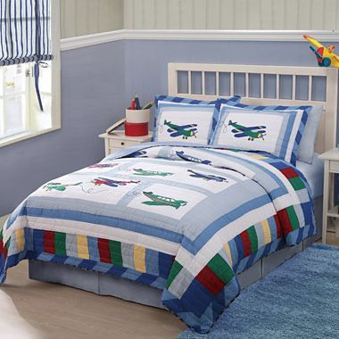 Fly Away Quilt Set Jcpenney Boys Bedding Vintage Airplane