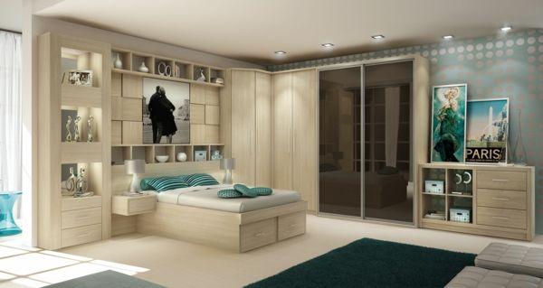 Schrank Schlafzimmer ~ Einrichtungsideen schlafzimmer holzmöbel holzboden bett schrank
