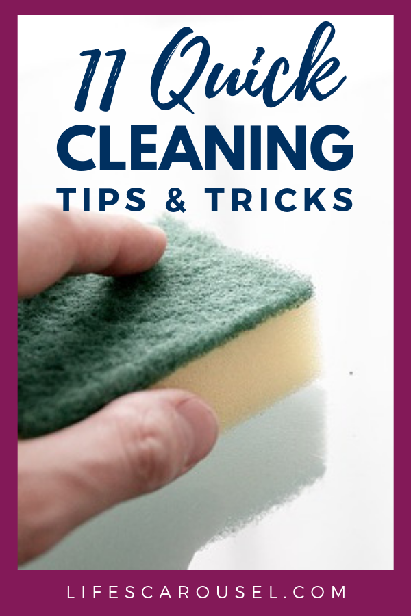 11 Quick Cleaning Tips For Busy People May 2020