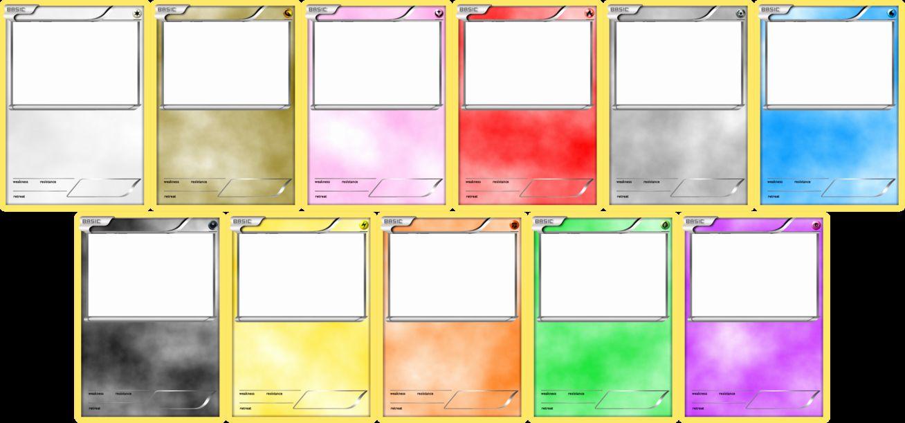 Word Trading Card Template Beautiful Pokemon Blank Card Templates