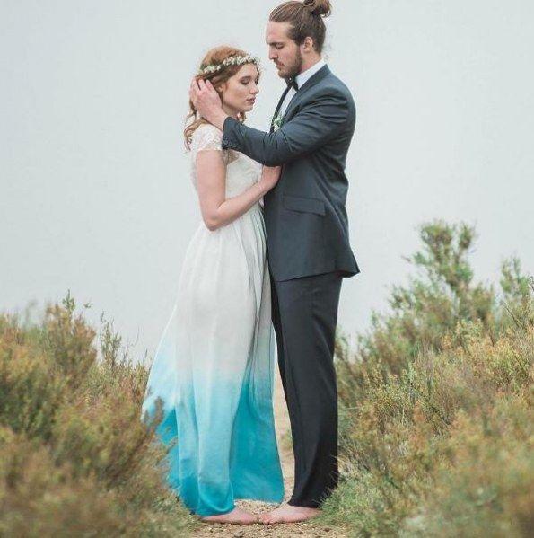 Verrückt nach Farbe: Dip-Dye Brautkleider sind der neueste Hochzeitstrend!