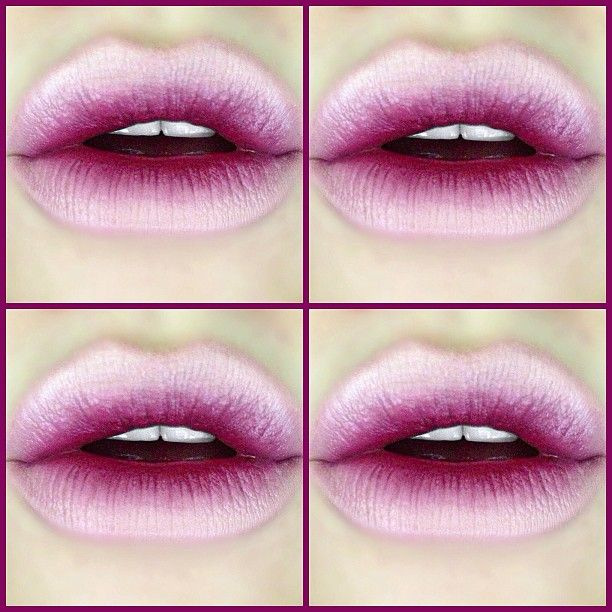 I love a reverse ombre lip like no other  MAC Fleshpot (Pro) and Media Lipsticks with NYX Pale Pink Lipliner.