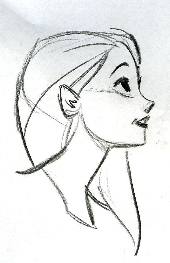 Girl Drawing Simple At Paintingvalleycom Explore Collection Of