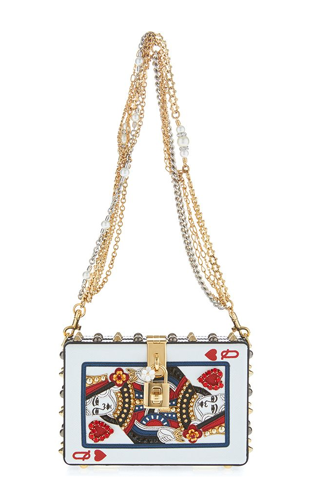 Dolce Gabbana White Queen Of Hearts Card Clutch D G Bags Shoes Pinterest Heart Cards Novelty Handbags And Queens