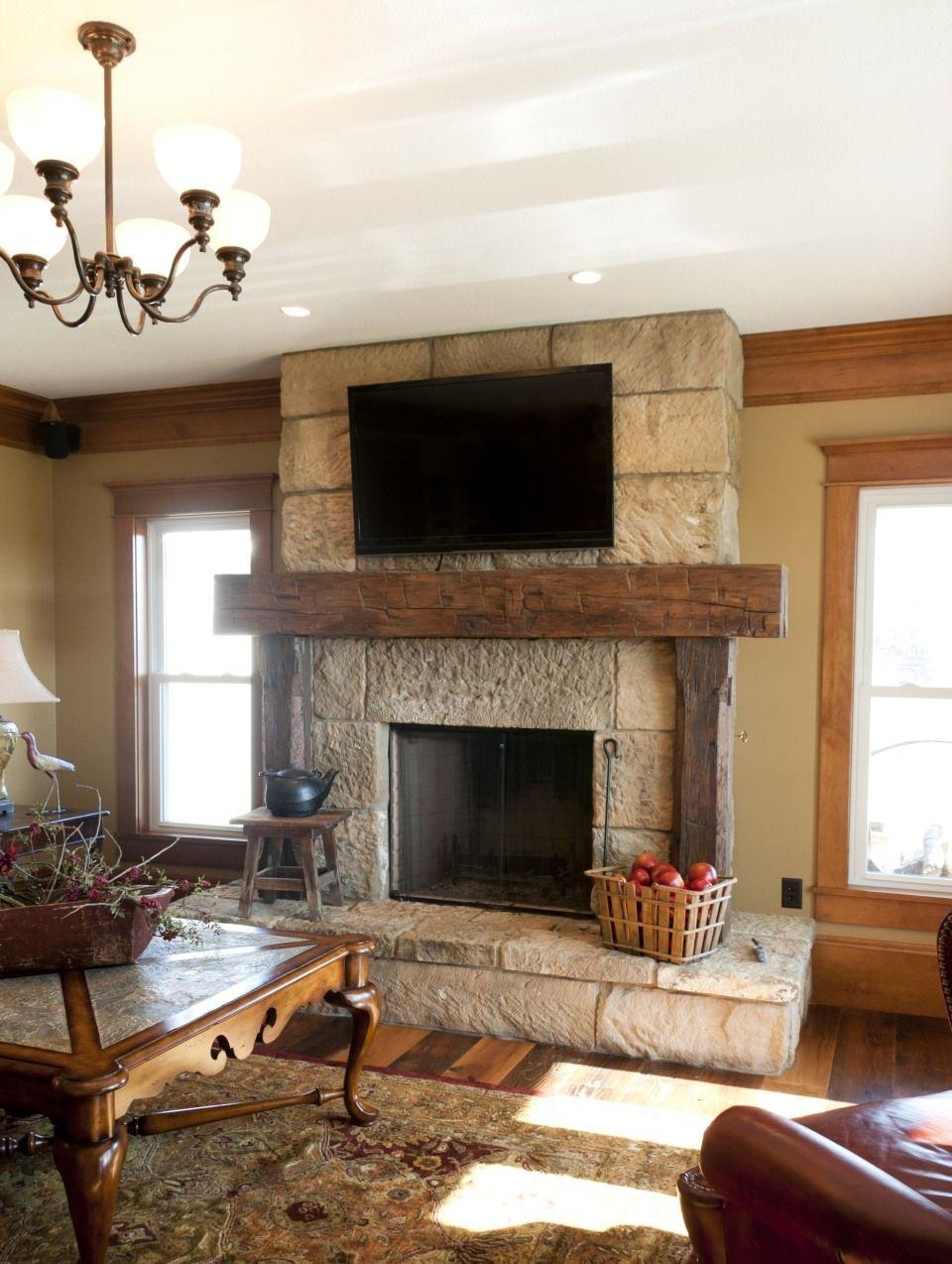 Farmhouse Fireplace Mantel Ideas