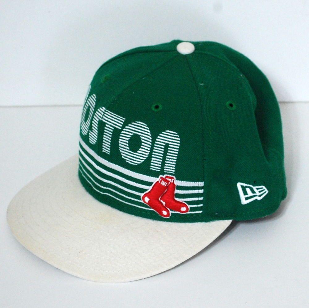 0930adbe9a5 New Era 59Fifty Hat 7 1 8 Boston Red Sox Fitted Green White Retro Inspired   NewEra  BaseballCap