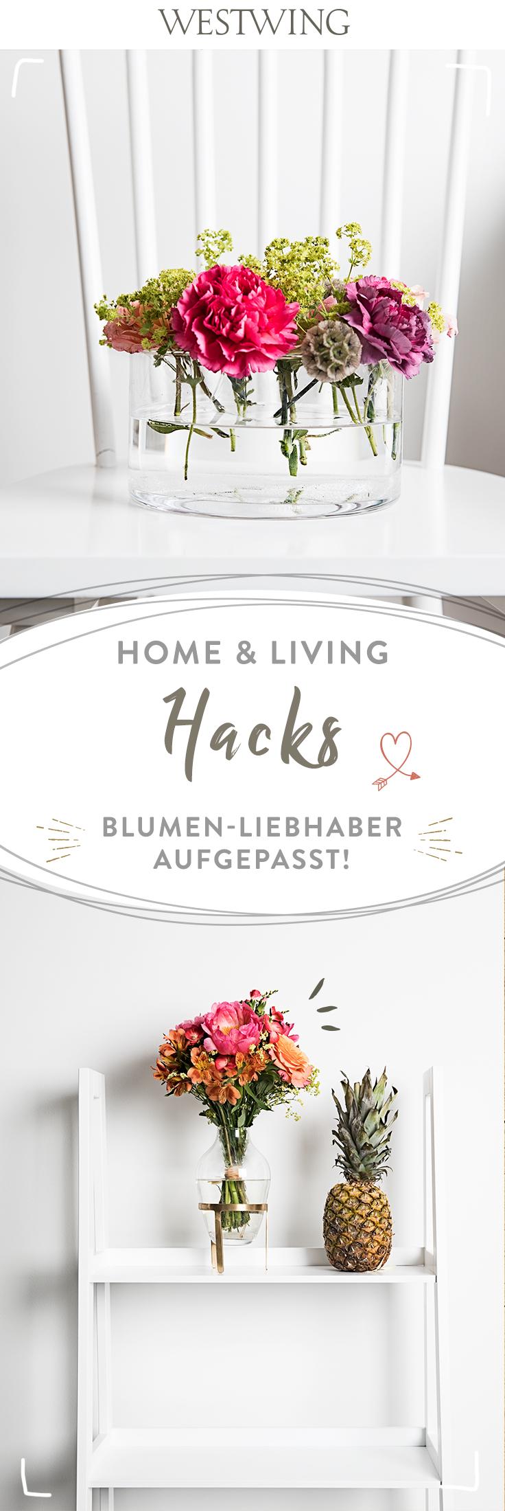 home living hacks 1 blumen vasen. Black Bedroom Furniture Sets. Home Design Ideas