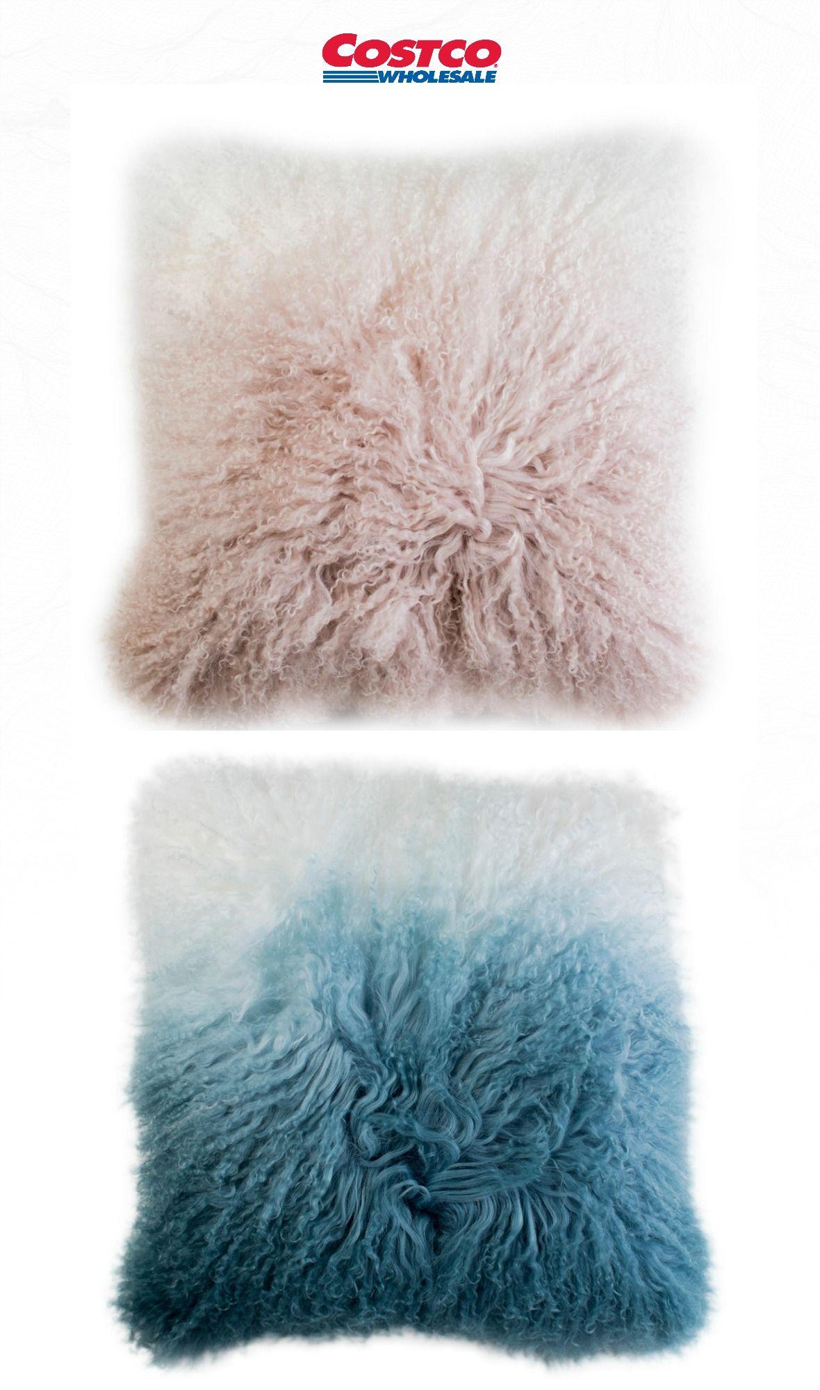 tibetan ombre fur pillows 2 pack