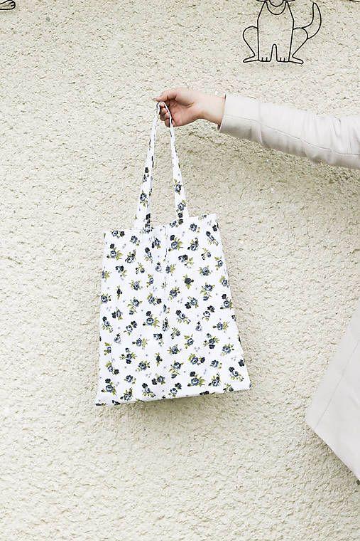 silvart / JEDINÝ KUS - Malé ruže (bavlnená taška)