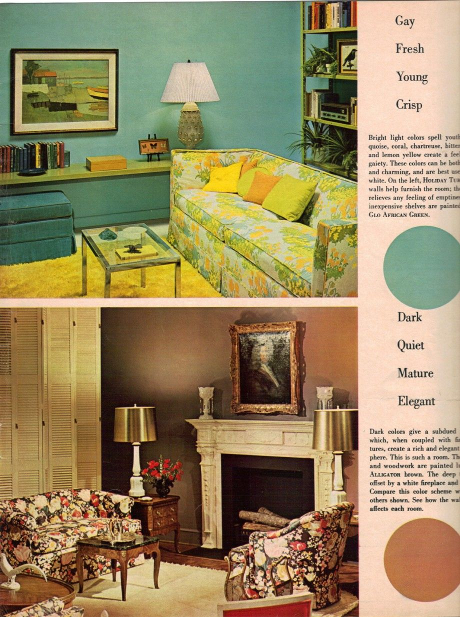 1969 Sherwin Williams 1960s decorating style 16