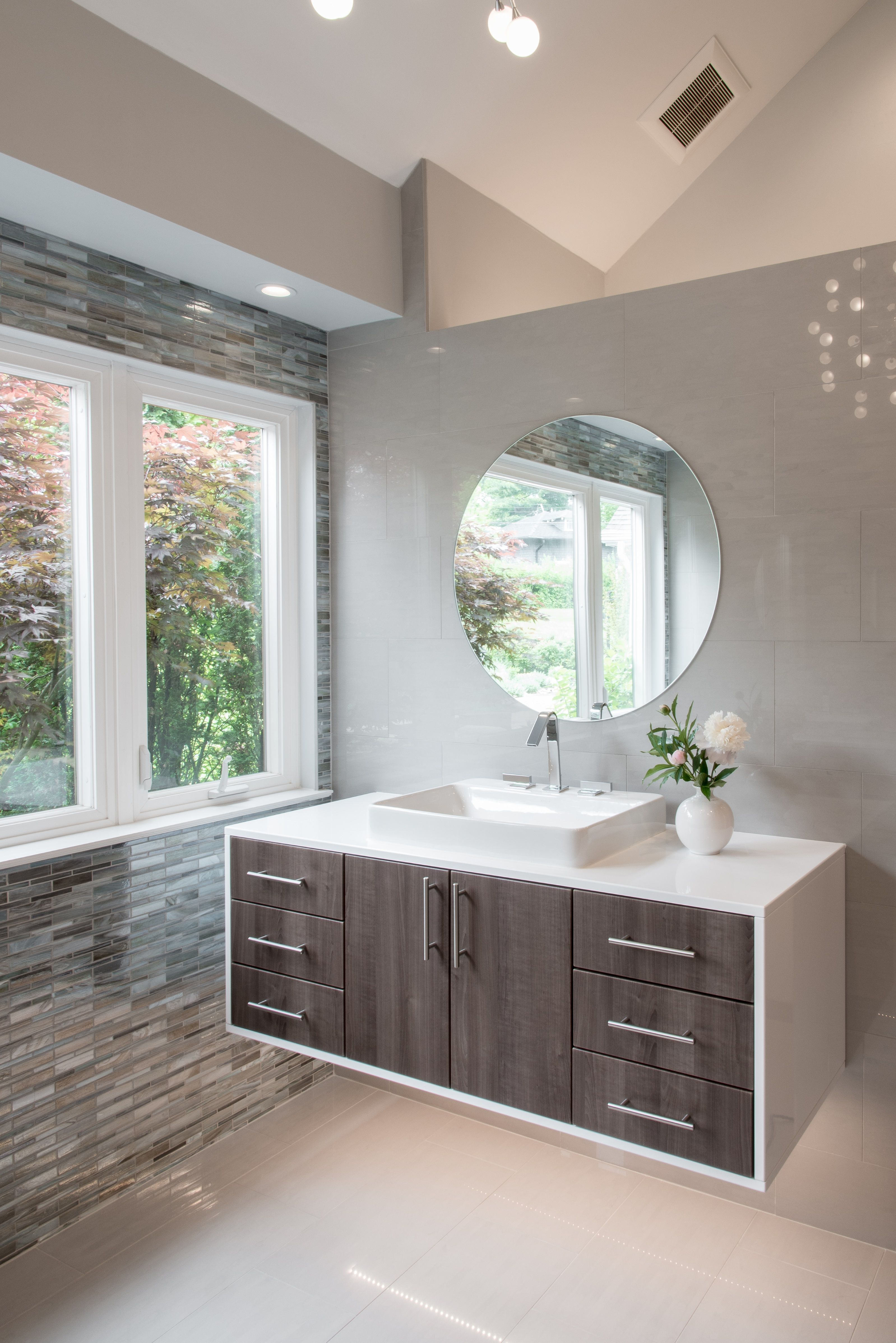 Pin to save these floating bathroom vanities