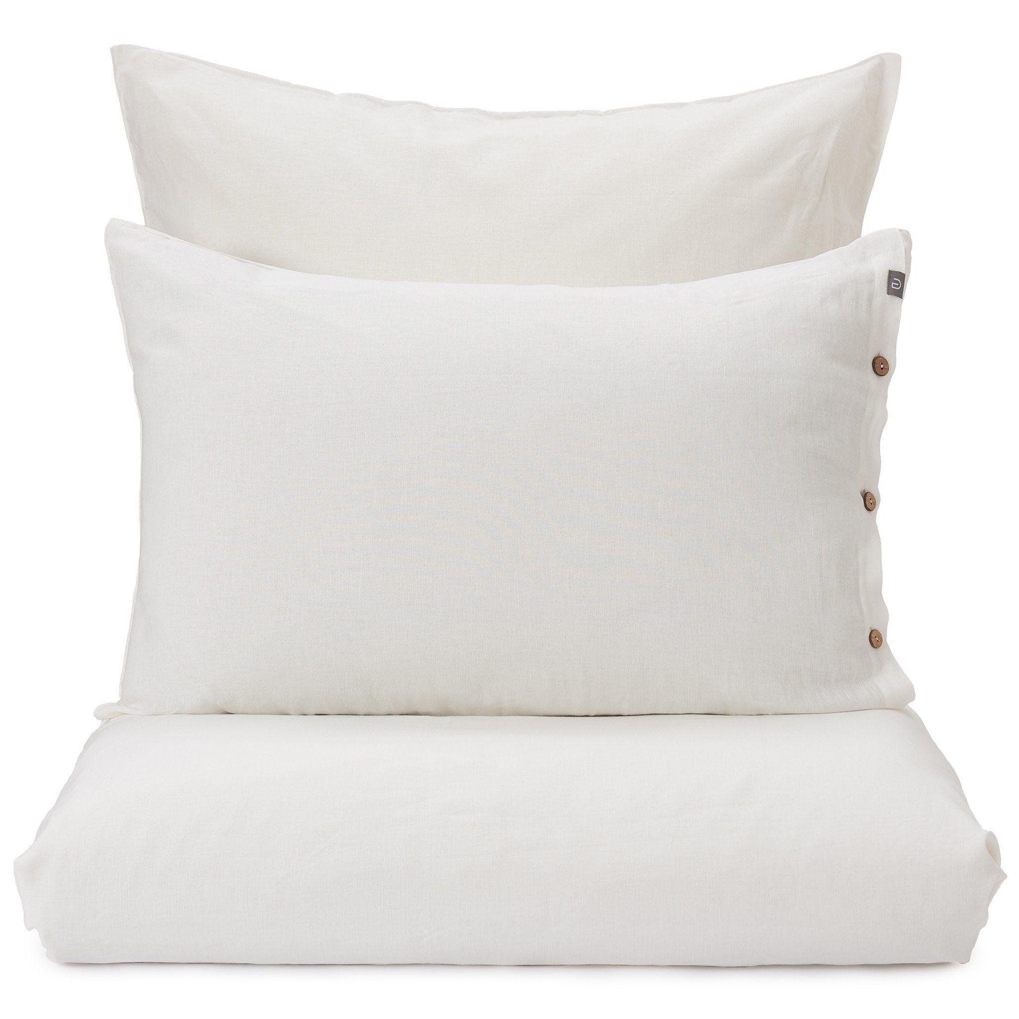 Leinen Bettwasche Tolosa Weiss 135x200 Cm Bettwasche