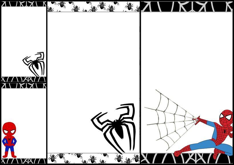 Marcos Invitaciones Tarjetas O Etiquetas De Spiderman Para