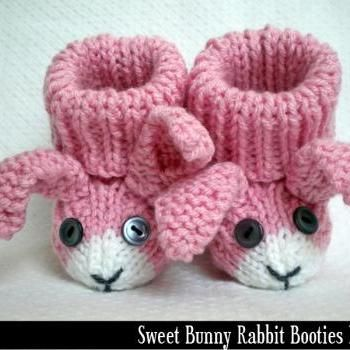 Bunny Rabbit Baby Booties Knitting Pattern Knitting And Crochet