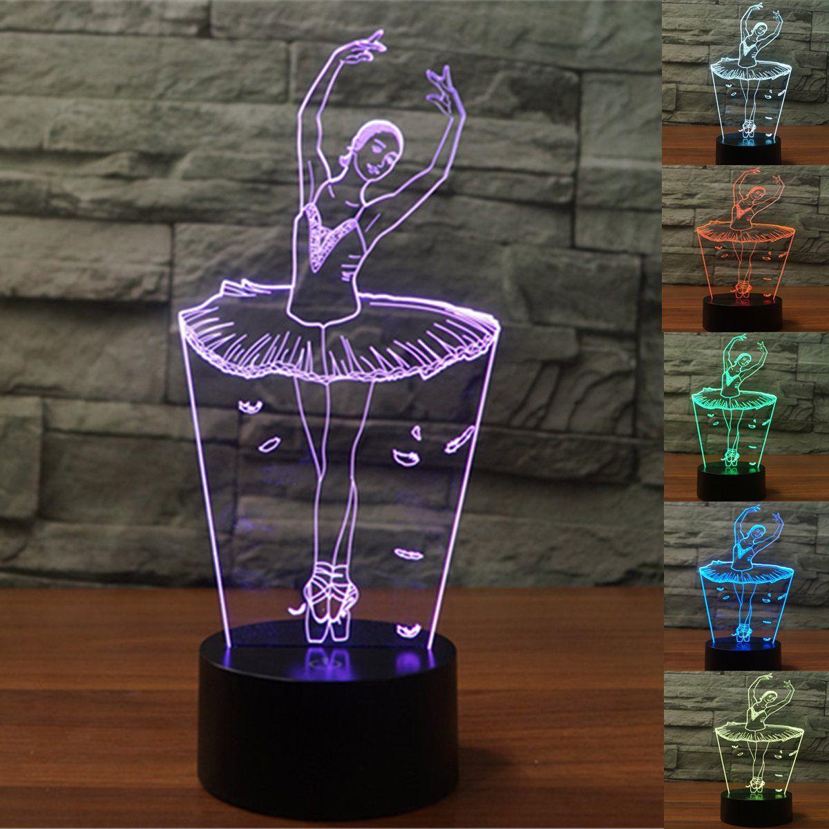 3d Optical Illusion Lampe Led Nachtlichter In 2020 Nachtleuchte Nachtlicht Dekoration