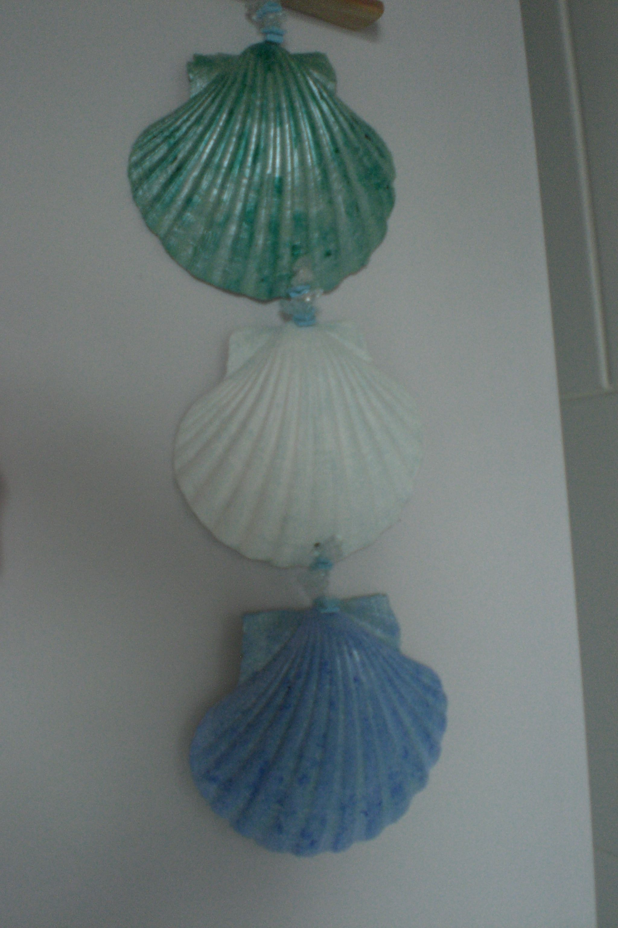 Painted scallop shell wall hanging for new bathroom cool