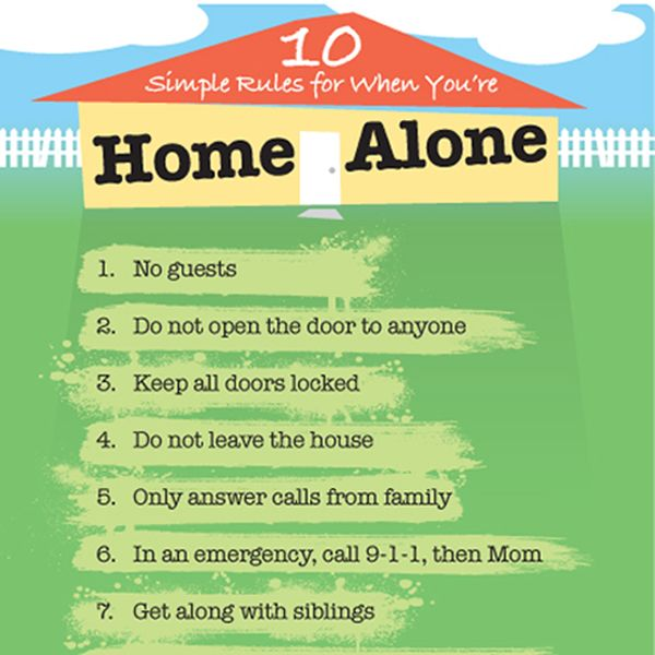 home alone rules printables parenting hacks parenting teens rh pinterest com