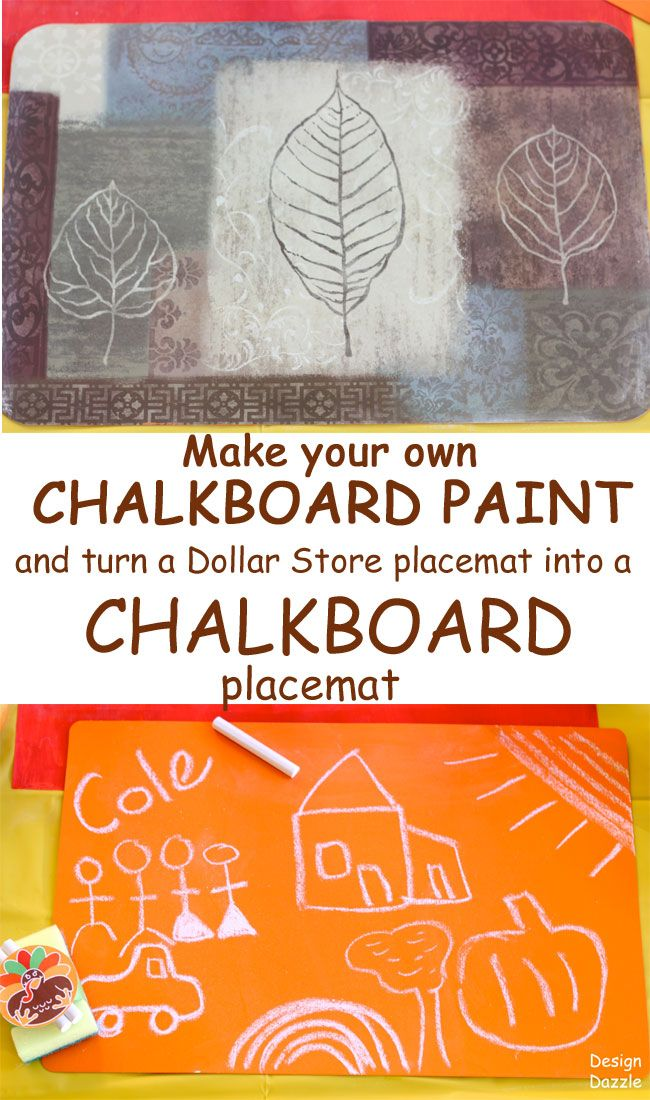Dollar Store Placemats Made Into Colorful Chalkboard Placemats Chalkboard Placemats Diy Chalkboard Paint Chalkboard Paint