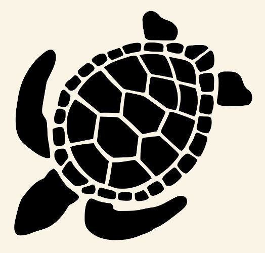 This is a graphic of Turtle Stencil Printable throughout outline