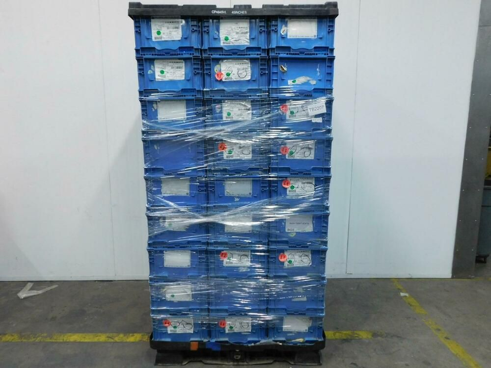 Ebay Sponsored Lot Of 54 Orbis Nso2415 9 Plastic Straight Wall Containers 24x15x9 Blue T128431 Ebay Orbis Shipping Pallets