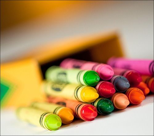 we could learn a lot from crayons;  some are sharp, some are pretty, some are dull, while others bright, some have weird names,  but they all have learned  to live together in the same box.