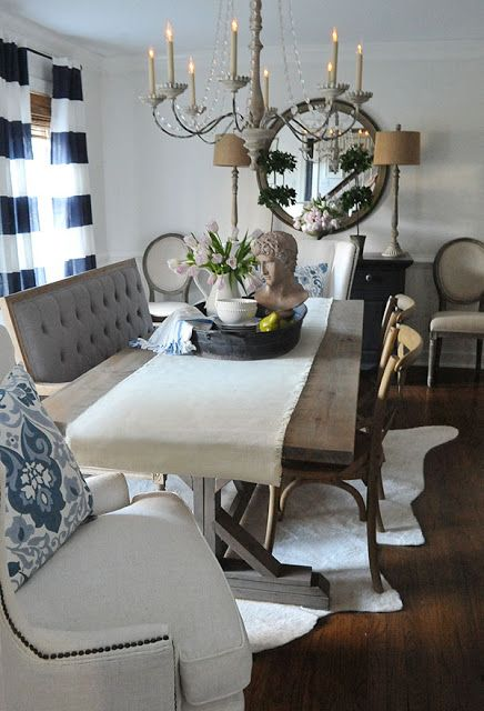 farmhouse table i made it using this plan from ana white s site rh pinterest com