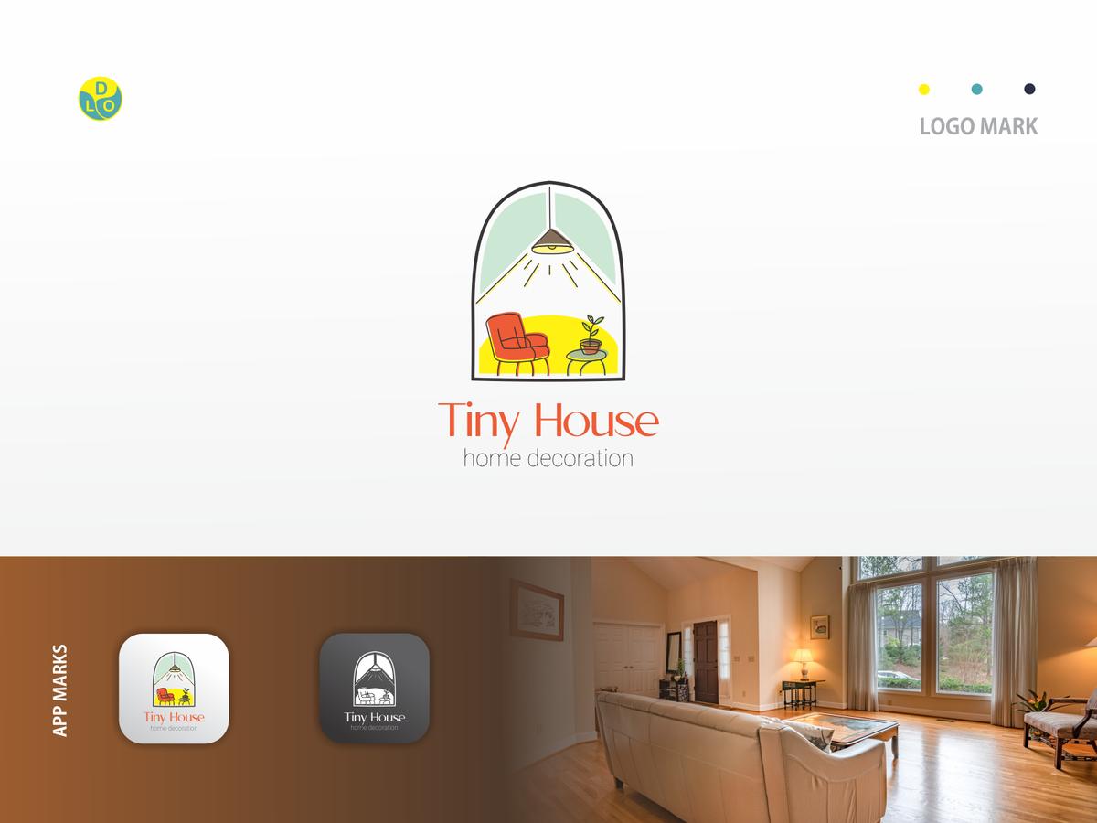 Tiny House Logo Decoration House Logos Flat App Logo Mark Minimal Icon Logotype Flat Design Design Logo Design Logo Animation Design Logo Mark App