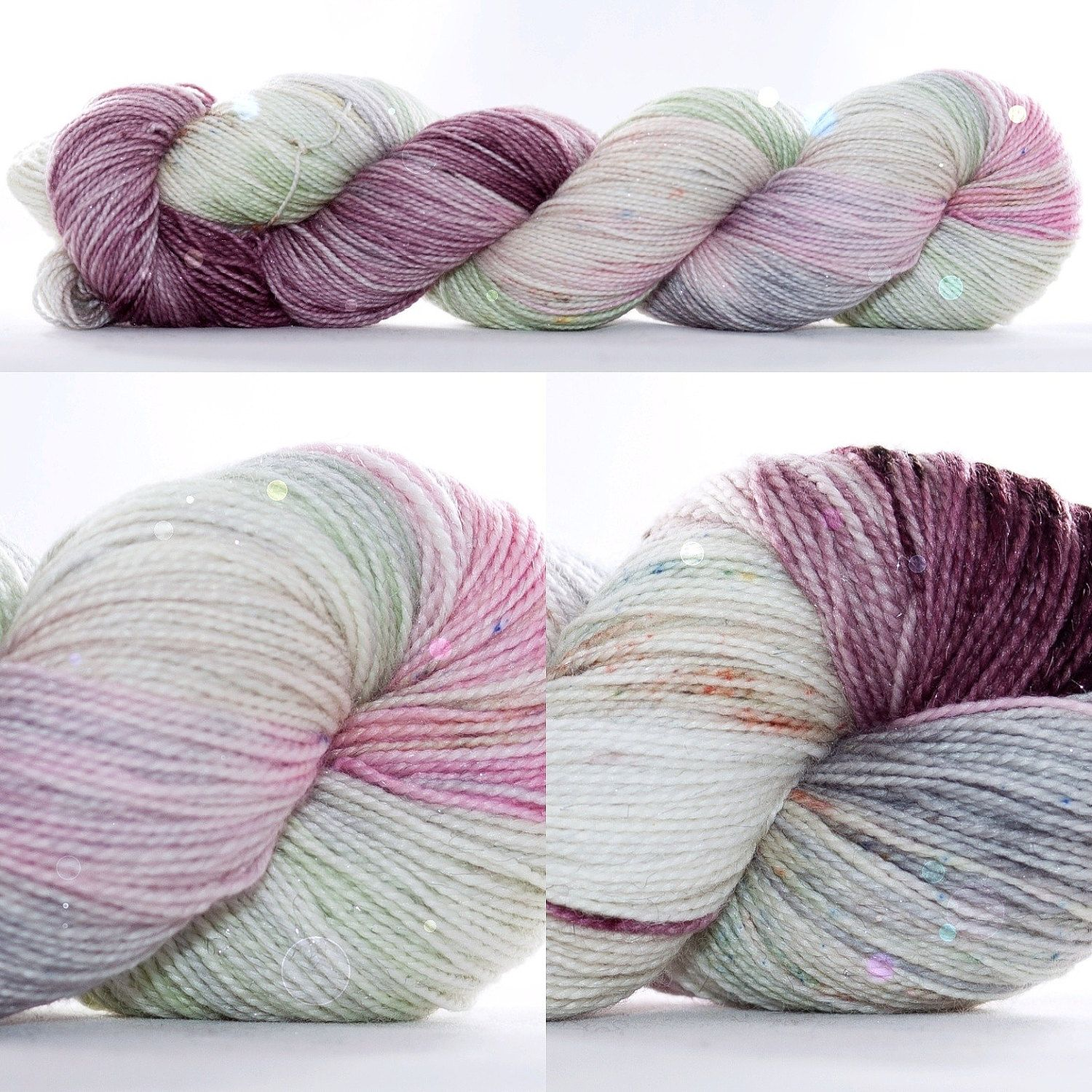 Have you been dreaming of this colorway on a sparkle base......✨ Ta-da! Yarning For You on my Dazzle Me Sock -