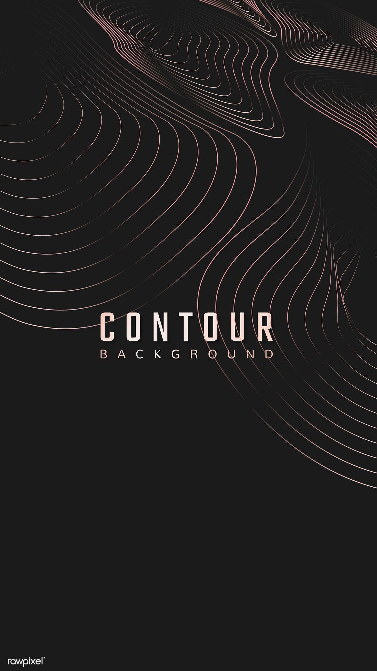 Download Premium Vector Of Topographic Contour Lines Background Vector Line Background Contour Line Texture Graphic Design