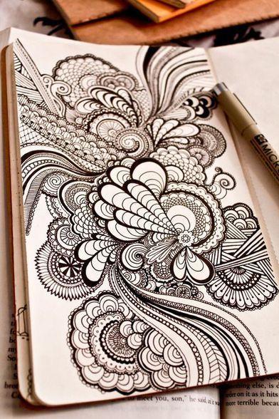 Zentangle Flores Buscar Con Google Zentangles Pinterest Art
