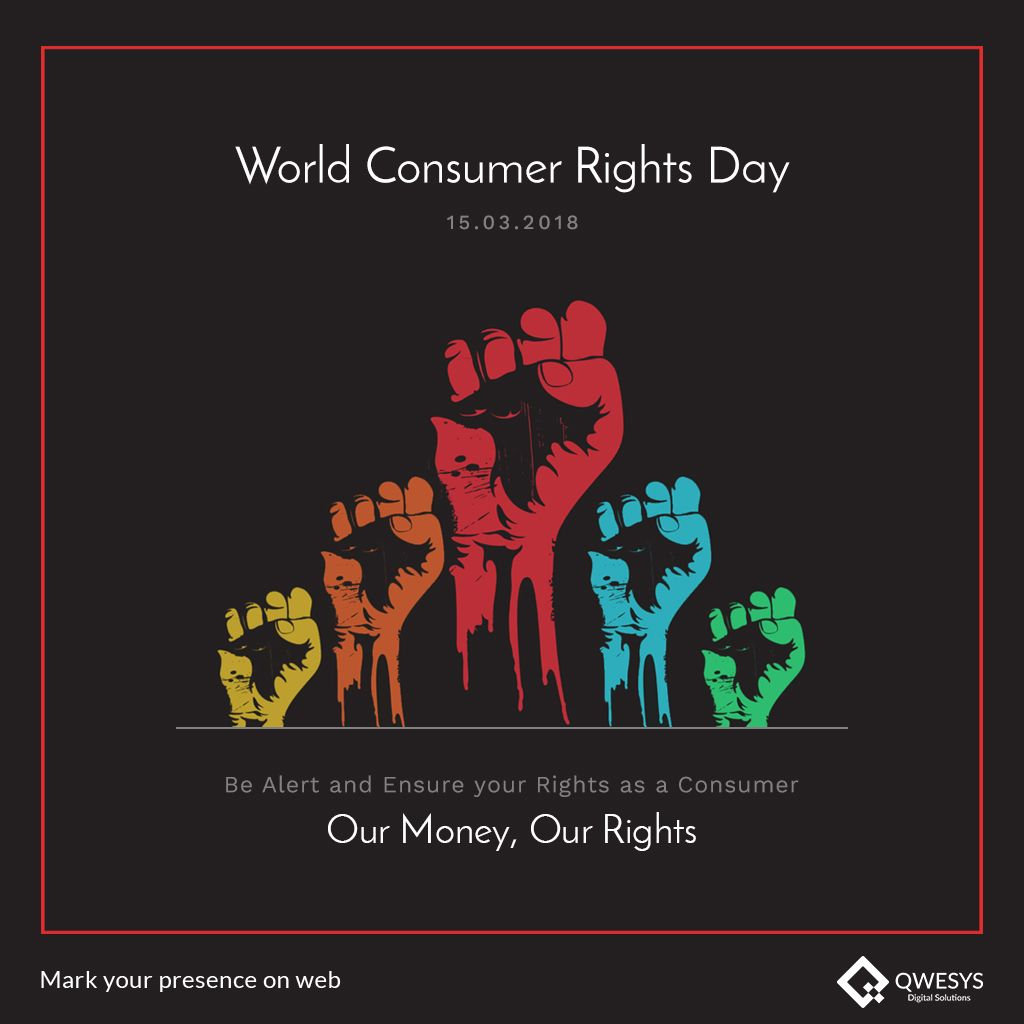 World Consumer Right Day Awareness Poster Consumer Protection Page Borders Design