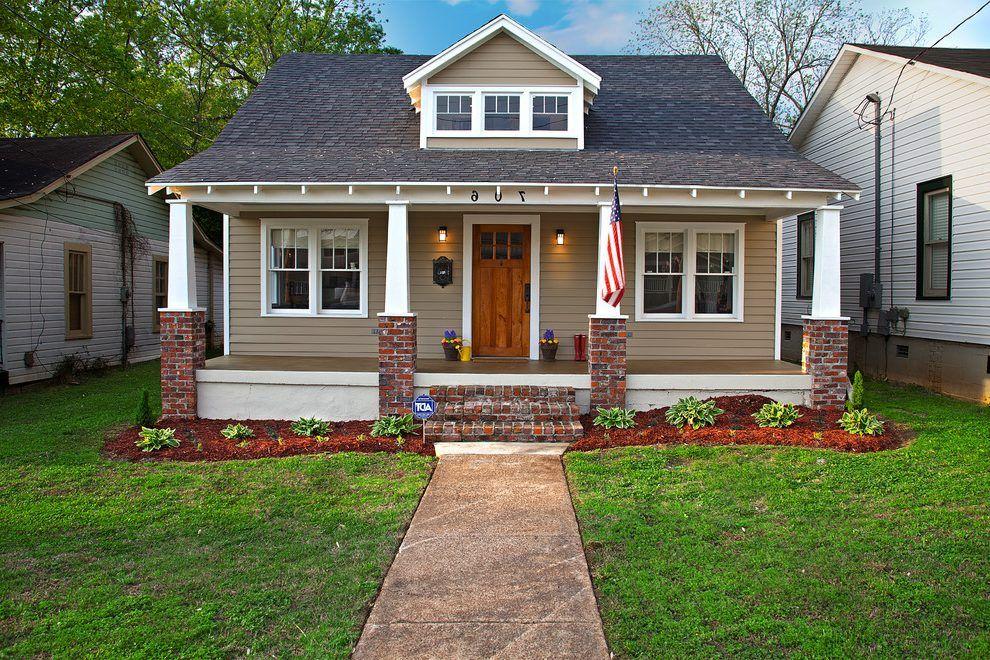 Exterior Window Trim Brick beige brick house exterior craftsman with red brick column house