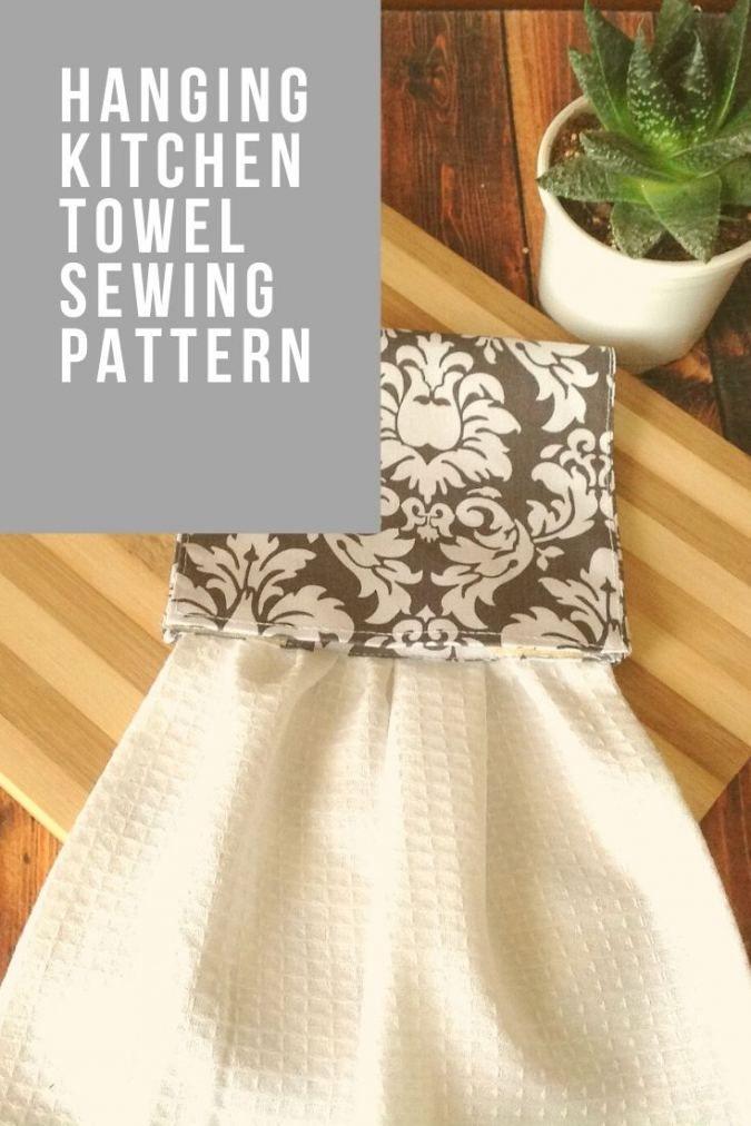 Easy Hanging Kitchen Towel Pattern in 2020 | Towel pattern ...