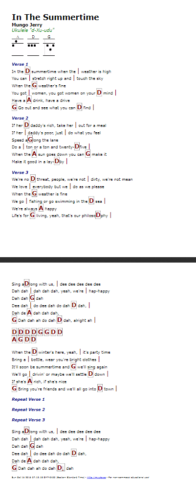 In The Summertime (Mungo Jerry) - http://myuke.ca | ukulele stuff ...
