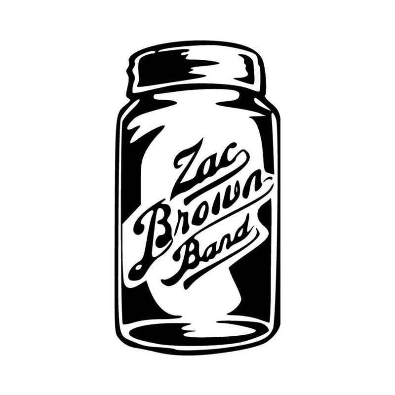 Zac brown mason jar band logo vinyl decal sticker
